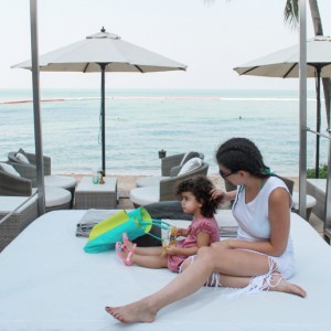 Cabanas, beds, Pullman, Pattaya, beach, resort, sea, sand, pool, palm trees, family, families, kids, baby, babies, toddlers, safe, secure, security, supervised, swim, swimming