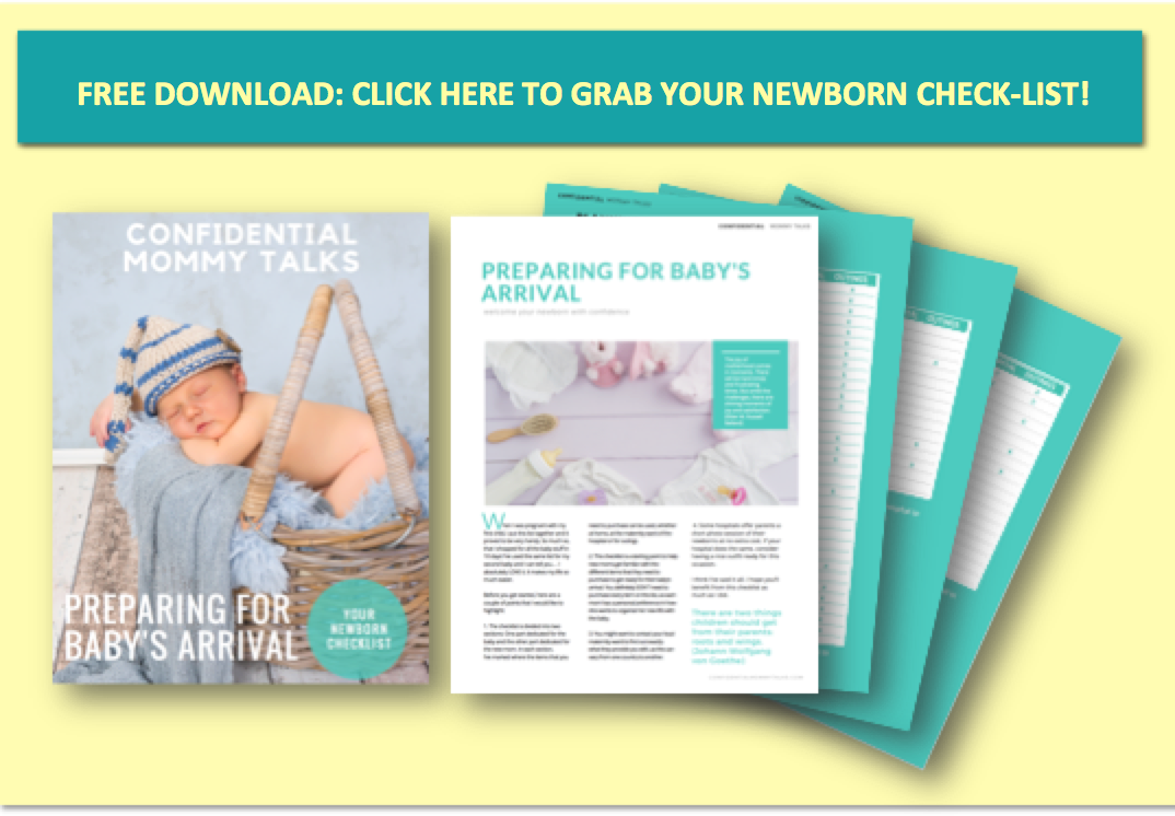 Click here to download your newborn checklist and welcome your newborn with confidence. Checklist available for newborn and mom for home, maternity and the diaper bag