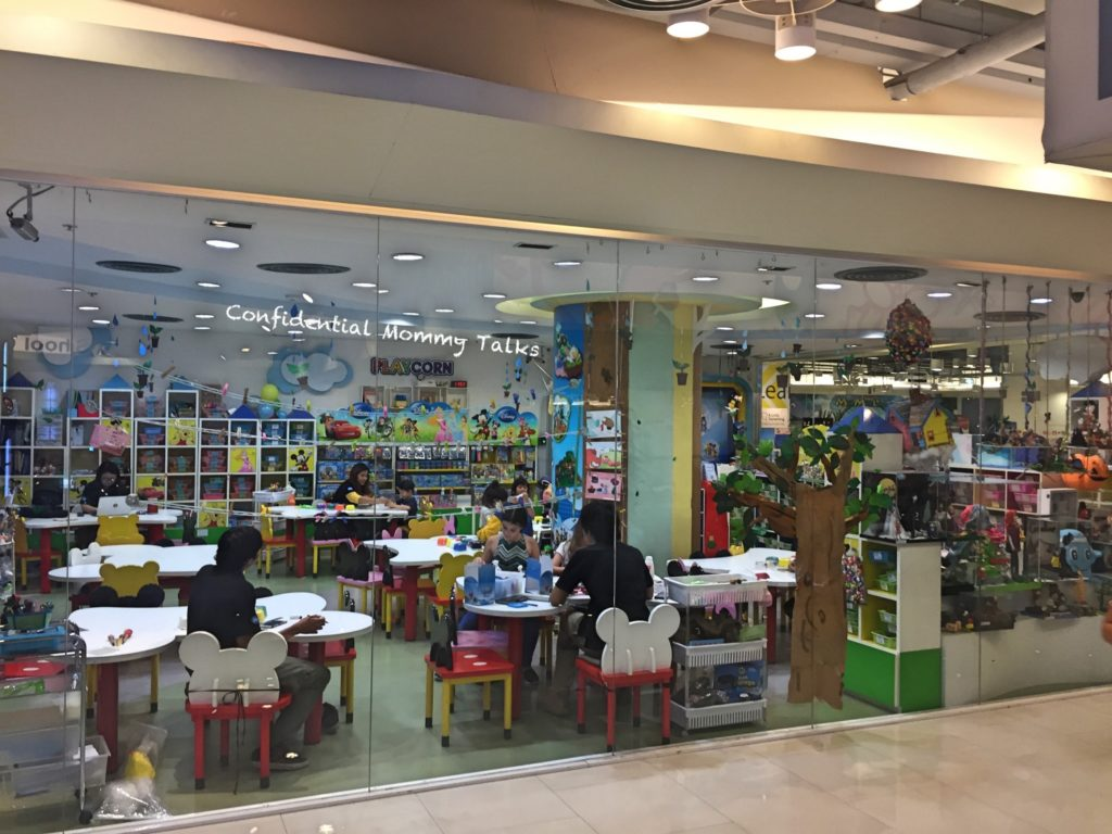 Kids area at Central World | Art and Craft area