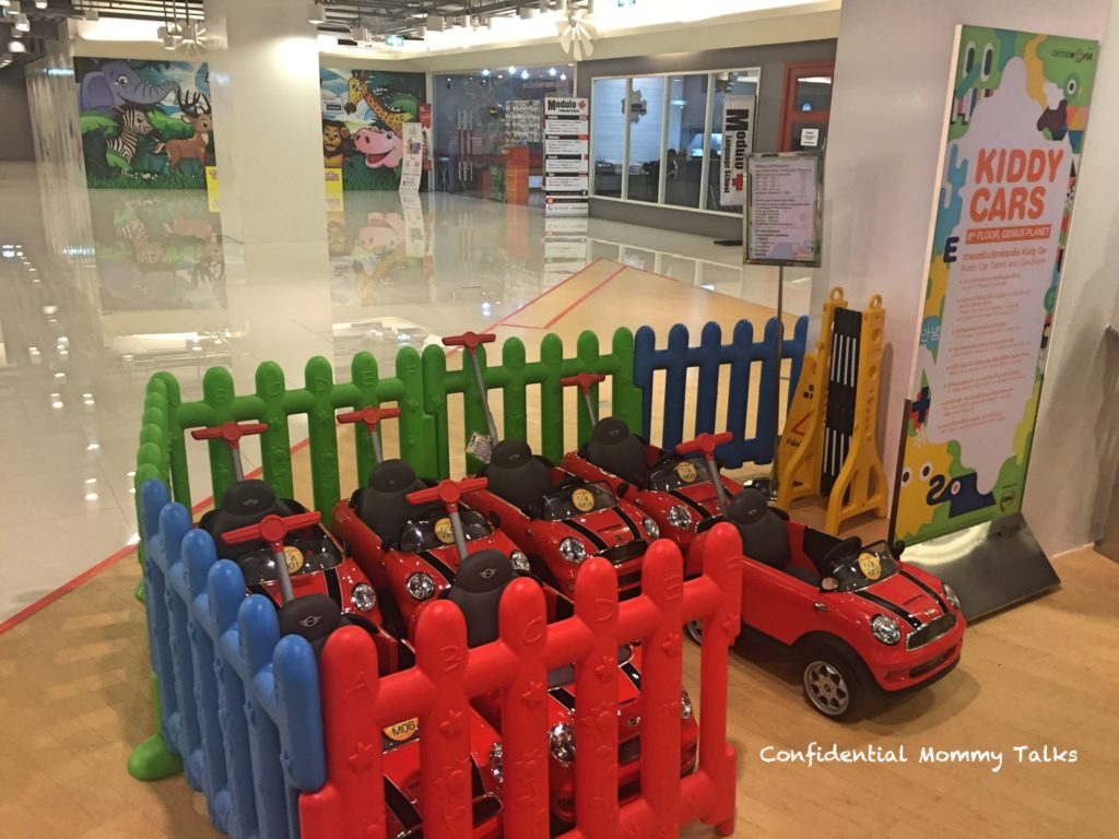 Kids area at Central World | Car lanes