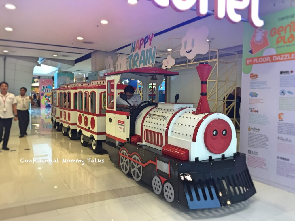 Kids area at Central World | Train