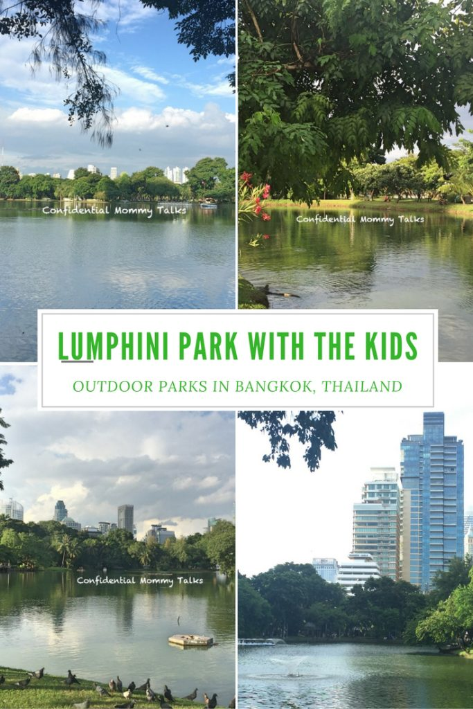 Lumphini Park with the kids