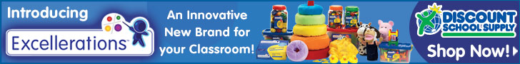 Excellerations A Great New Innovative Line Of Products For Your Classroom From DiscountSchoolSupply.com! Click Here! (Banner)